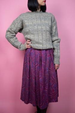 """Sivý vlnený vintage sveter """"Kappa"""" - M"""