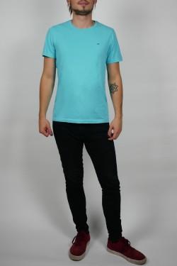 Tyrkysové tričko Tommy Hilfiger - M