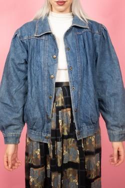 Denimová retro bunda - M