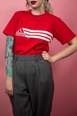 Červené tričko Adidas - L