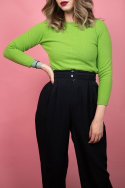 Vlnený zelený sveter - XS/S