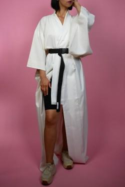 Biele japonské kimono - UNI